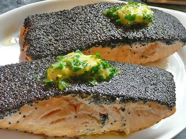 Лимонный лосось с маком: быстрый рецепт