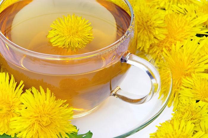 Чай из одуванчика-4 полезных качаства для похудения.