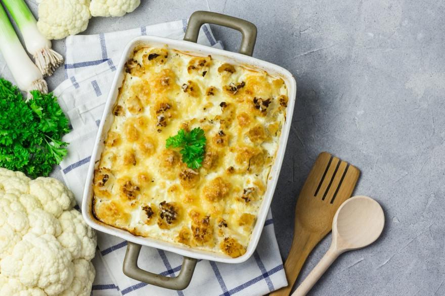 Рецепт: цветная капуста запеченная в духовке без соуса бешамель