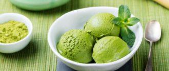 Мороженое с зеленым чаем Матча