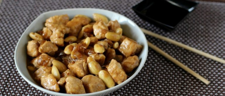 Рецепт курицы с миндалем.
