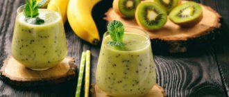 Рецепт смузи с киви и бананом