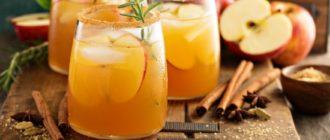 """Рецепт коктейля """"Утренняя звезда"""" с яблочным сидром"""