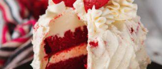 """Торт """"Красный бархат"""" рецепт классический и без красителей."""