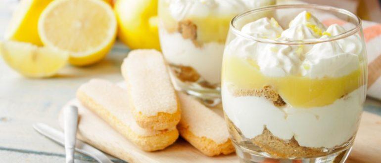 Рецепт тирамису с лимоном без яиц с йогуртом: как приготовить
