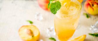 Рецепт аперитива Virgin Bellini: зимние безалкогольные коктейли