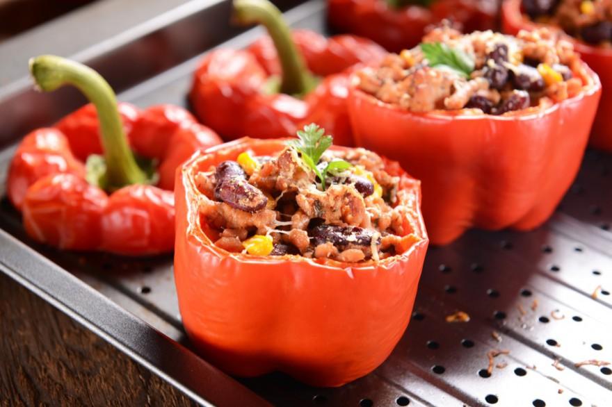 Рецепт запеченного перца с тунцом и оливками