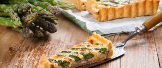 Пирог с пикантной спаржей, рецепт с рикоттой или свежим сыром